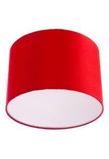 Lustre Plafon Cupula Dome 30X20Cm Magnífico Vermelho