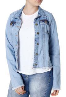 ffd304b1bd ... Jaqueta Jeans Feminina Azul