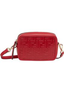 Fendi Bolsa Transversal Camera Case Mini - Vermelho
