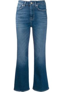 7 For All Mankind Vintage Cropped Jeans - Azul