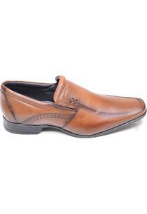 Sapato Masculino Social Em Couro Rafarillo Marrom Claro