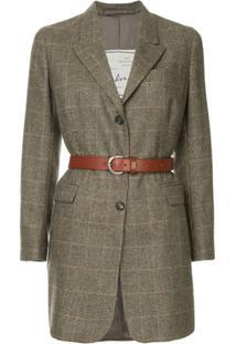 Giuliva Heritage Collection Blazer Xadrez - Marrom