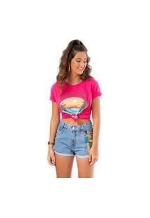 T-Shirt Vibes Fille Rosa