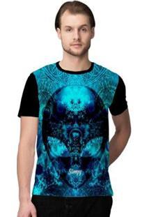 Camiseta Stompy Psicodelica10 Masculina - Masculino-Preto
