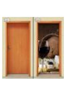 Adesivo Decorativo De Porta - Vinho - 1265Cnpt