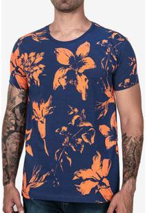 Camiseta Floral Azul 102476