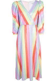 Olivia Rubin Vestido Com Listras - Estampado