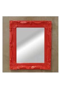 Espelho Para Parede Bahamas Vermelho Solido 33X28 Cm