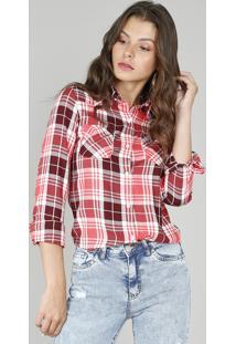 4494152524 Camisa Xadrez feminina