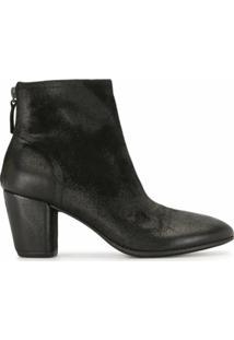Marsèll Ankle Boot Com Salto Bloco - Preto