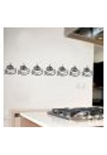 Adesivo De Parede Para Cozinha Faixa De Xícara - Grande