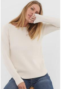 Blusa Facinelli By Mooncity Tricot Canelada Off-White - Kanui