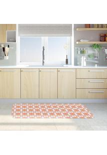 Tapete De Cozinha Mdecore Azulejo Coral 40X120Cm