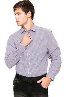 Camisa Social Perry Ellis Classic Xadrez
