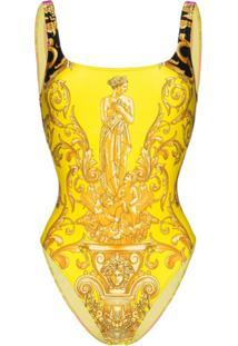 Versace Maiô Estampado - Amarelo