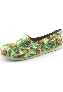 Alpargata Quality Shoes Feminina 001 Abacaxi Verde 35
