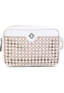 Pochete Couro Capodarte Belt Bag Tramada Feminina - Feminino-Off White