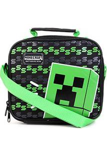 Bolsa Térmica Dmw Minecraft Cooler - Masculino-Preto+Verde