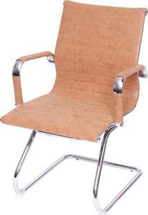Cadeira Office Eames Esteirinha Fixa Caramelo Ór Design