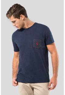 Camiseta Malha Variada Bolso 577 Bordado Reserva Masculina - Masculino