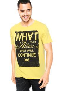 Camiseta Colcci Continue Amarela