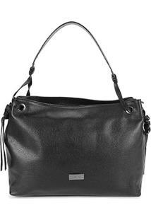 Bolsa Couro Shoestock Shoulder Bag Feminina - Feminino-Preto