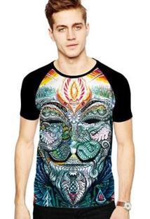 Camiseta Stompy Raglan Modelo 68 Masculina - Masculino-Preto