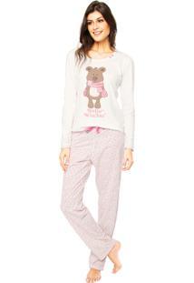 Pijama Mensageiro Dos Sonhos Estampado Off-White