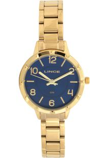 Relógio Lince Lrg4503L-D2Kx Dourado/Azul-Marinho