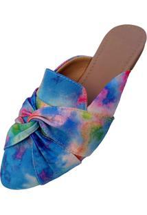 Mule Feminino Miss Confort Bico Folha Tie-Dye - Kanui