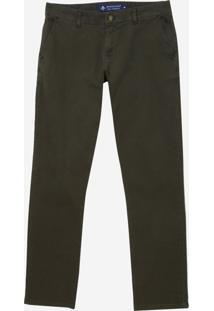 Calça Dudalina Jeans Stretch Bolso Faca Masculina (Verde Medio, 46)