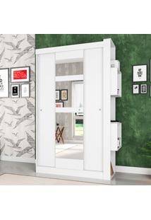 Guarda-Roupa Solteiro Doce Cheiro Com Espelho 3 Portas – Art In Móveis - Branco