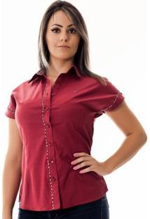 Camisa Pimenta Rosada Da Maria - Feminino-Vermelho