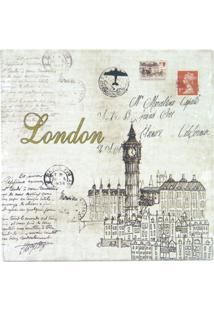 Quadro De Madeira Postal London Kasa Ideia