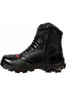 Bota Couro Bell-Boots Motoqueira Black