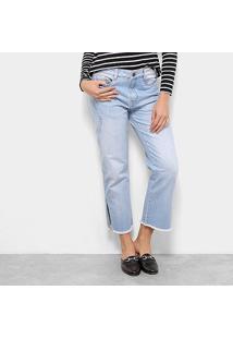Calça Jeans Carmim Saint James Pantacourt Feminina - Feminino-Azul