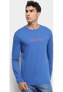 Camiseta Calvin Klein Manga Longa Masculina - Masculino
