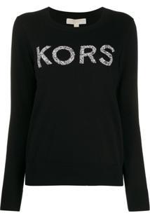 Michael Michael Kors Suéter Com Aplicação De Logo - Preto