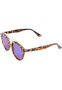 Óculos De Sol Polo London-B88-1276 - Feminino-Marrom+Azul