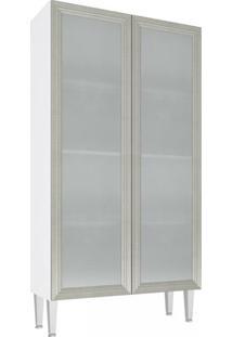 Cristaleira Baixa 2 Portas De Vidro Cz707 - Art In Móveis Cz707