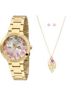 Kit Relógio Allora Feminino Camoflower Al2036Ci K4T - Dourado Al2036Ci K4T  - Feminino- 3c21874db7