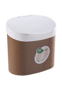 Lixeira Para Pia Bios 22,8 X 15,6 X 22,4 Cm Bios Com Branco Coza