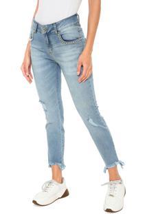b0ccb3b3f ... Calça Jeans Colcci Slim Pedraria Azul