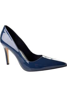 Scarpin Envernizado Bebecê - Feminino-Azul