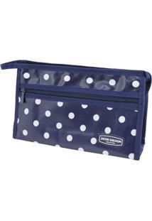 Necessaire Jacki Design Estampada Azul-Marinho