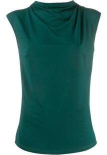 Styland Blusa Drapeada - Verde