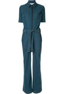Victoria Victoria Beckham Macacão Jeans Flare - Azul