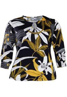 Blusa Almaria Plus Size New Umbi Decote Vazado Ama