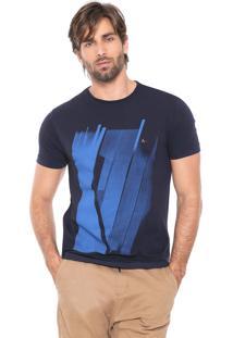 Camiseta Aramis Construtivismo Azul-Marinho