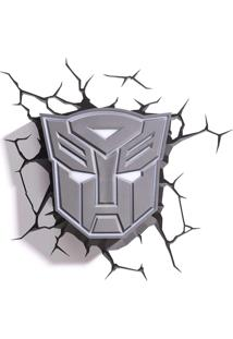 Luminária 3D Light Fx Transformers Masculino Cinza